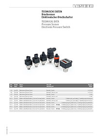 Overview of electronic pressure switches and pressure sensors