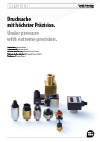 Brochure pressure switches